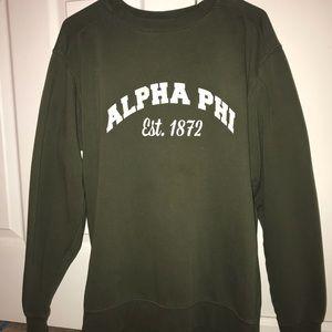 Alpha Phi Comfort Colors Crewneck